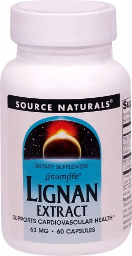 Source Naturals Lignan Extract Capsules 63mg Perspective: front