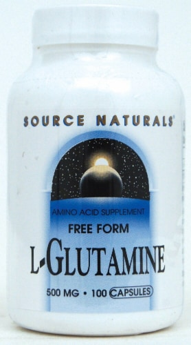 Source Naturals  Free Form L-Glutamine Perspective: front