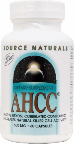 Source Naturals  AHCC® with Bioperine Perspective: front