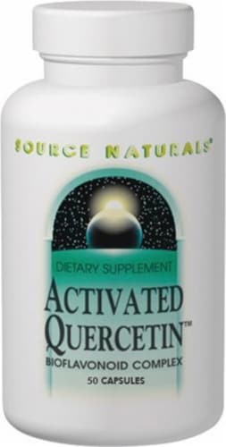 Source Naturals Activated Quercetin Capsules Perspective: front
