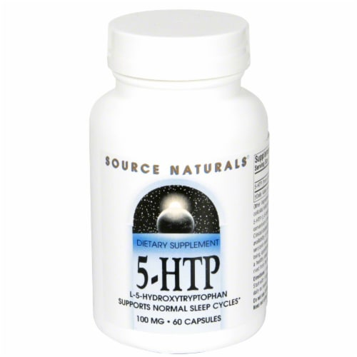 Source Naturals 5-HTP Capsules 100 mg Perspective: front