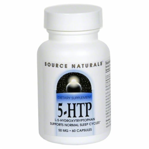 Source Naturals 5-HTP Capsules 50 mg Perspective: front