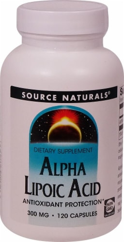 Source Naturals  Alpha Lipoic Acid Perspective: front