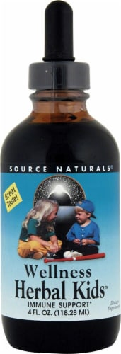 Source Naturals  Wellness Herbal Kids™ Liquid   Peppermint Perspective: front