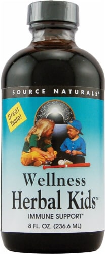 Source Naturals Wellness Herbal Kids Liquid Peppermint Perspective: front