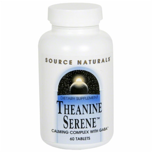 Source Naturals Theanine Serene Tablets Perspective: front