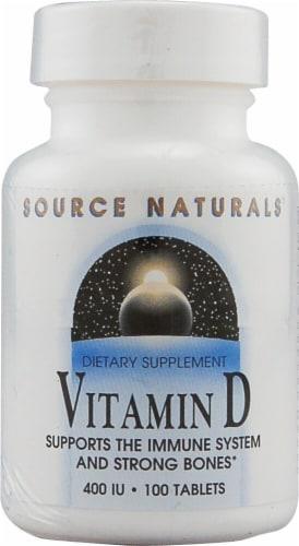 Source Naturals Vitamin D-3 Tablets 400IU Perspective: front