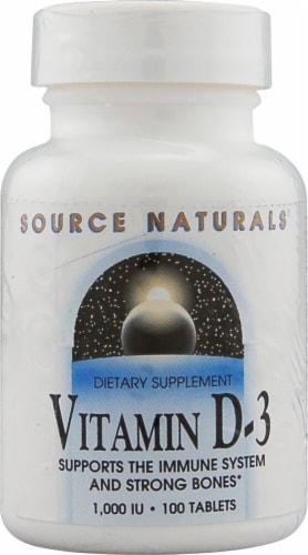 Source Naturals Vitamin D-3 Tablets 1000IU Perspective: front