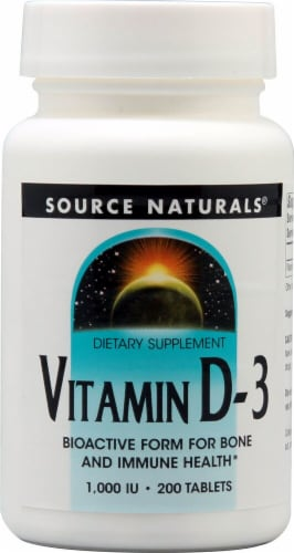 Source Naturals Vitamin D-3 Tablets 1000IU Perspective: front