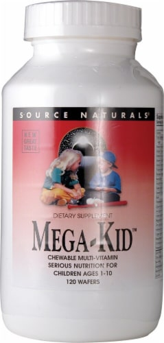 Source Naturals Mega-Kid Multi Vitamin Natural Berry Chewable Tablets 120 Count Perspective: front