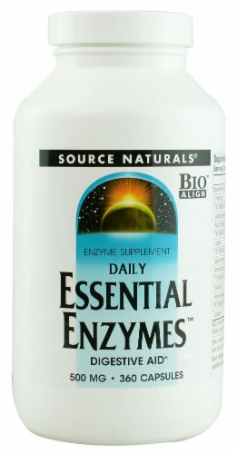 Source Naturals  Daily Essential Enzymes™ Perspective: front