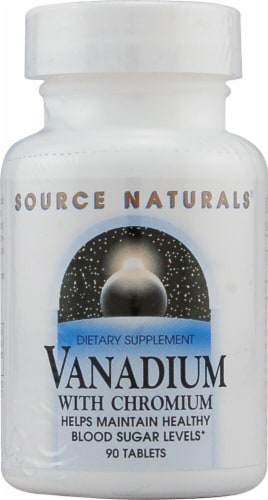 Source Naturals Vanadium with Chromium Tablets Perspective: front