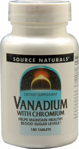 Source Naturals Vanadium with Chromium Tablets Perspective: front