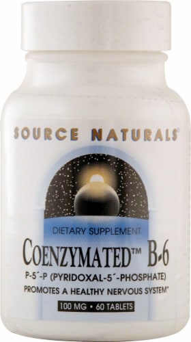 Source Naturals Coenzymated B-6 Tablets 100mg Perspective: front