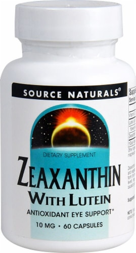 Source Naturals Zeaxanthin with Lutein Capsules 10mg 60 Count Perspective: front