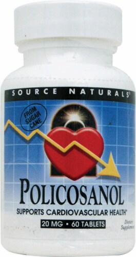 Source Naturals Policosanol Tablets 20mg Perspective: front