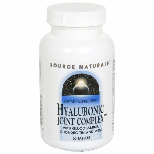 Source Naturals Hyaluronic Joint Complex Tablets Perspective: front