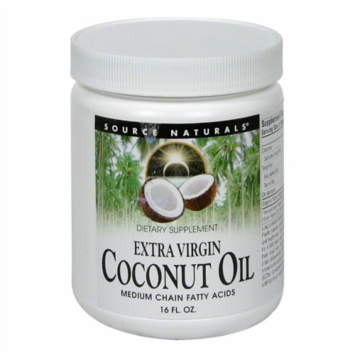 Source Naturals 100% Original Virgin Coconut Oil Perspective: front