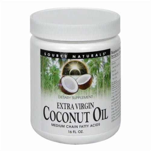 Source Naturals 100% Original Virgin Coconut Oil Perspective: front