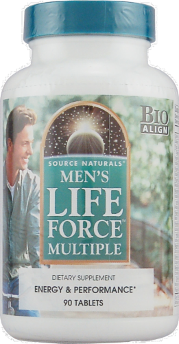 Source Naturals Mens Life Force Tablets Perspective: front