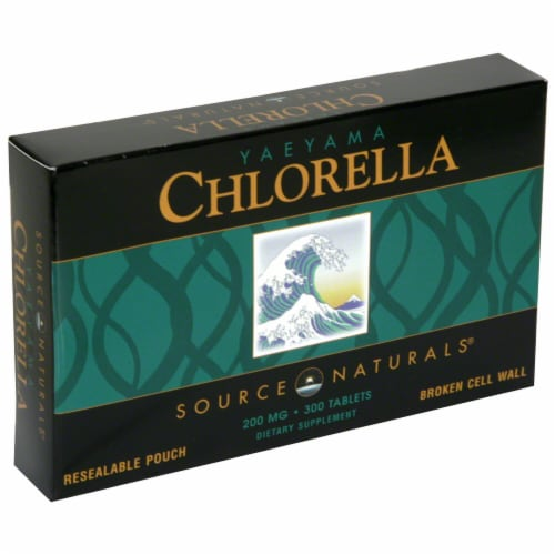 Source Naturals Yaeyama Chlorella 200 mg Resealable Pouch Dietary Supplement Perspective: front