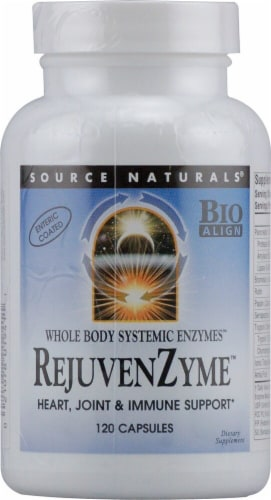 Source Naturals Whole Body Systemic Enzymes RejuvenZyme Capsules Perspective: front