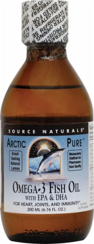 Source Naturals  ArcticPure® Omega-3 Fish Oil with EPA and DHA Perspective: front