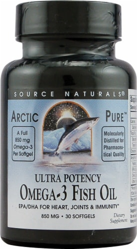 Source Naturals  ArcticPure® Ultra Potency Omega-3 Fish Oil Perspective: front