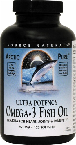 Source Naturals  ArcticPure™ Omega-3 Fish Oil Perspective: front