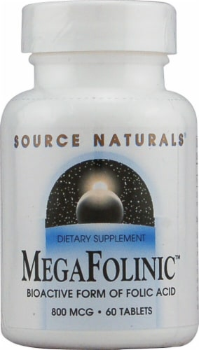 Source Naturals  MegaFolinic™ Perspective: front