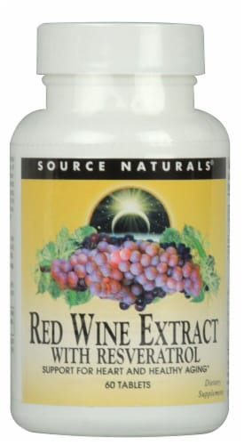 Source Naturals  Red Wine Extract with Resveratrol Perspective: front