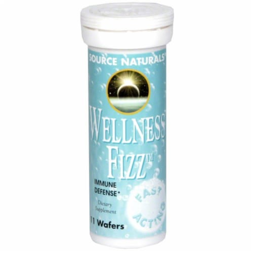 Source Naturals Wellness Fizz Immune Defense Wafers Perspective: front