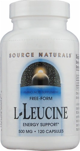 Source Naturals  Free Form L-Leucine Perspective: front