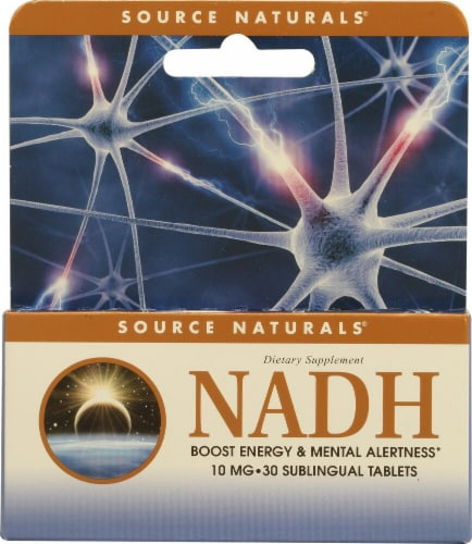 Source Naturals  NADH Sublingual   Peppermint Perspective: front