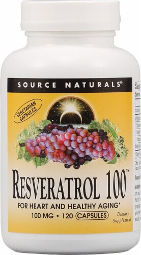Source Naturals Resveratrol 100™ Capsules Perspective: front