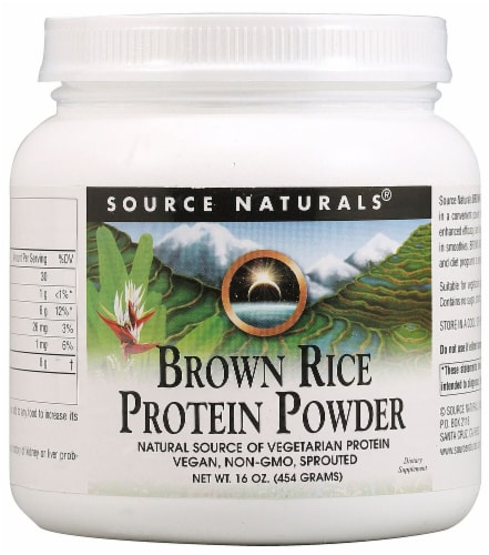 Source Naturals Brown Rice Protein Powder Perspective: front