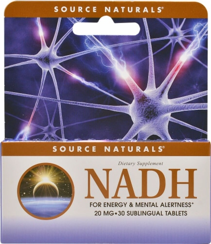 Source Naturals  NADH Sublingual Perspective: front