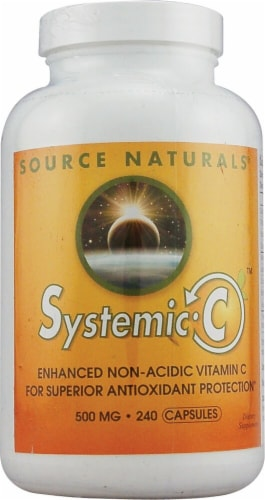 Source Naturals Systemic C Capsules 500mg Perspective: front