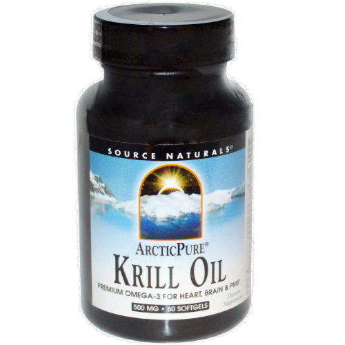Source Naturals Krill Oil 500 mg Softgels Perspective: front