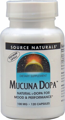 Source Naturals Mucuna Dopa Capsules 100 mg Perspective: front