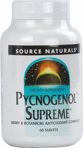 Source Naturals Pycnogenol Supreme Tablets Perspective: front