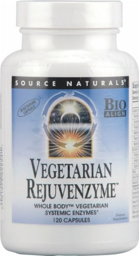 Source Naturals Vegetarian Rejuvenzyme Vegetarian Capsules Perspective: front