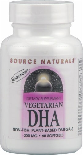 Source Naturals Vegetarian DHA With Neuromins 200mg Perspective: front