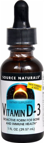 Source Naturals Vitamin D-3 Liquid Perspective: front