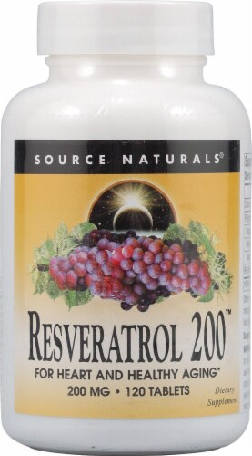 Source Naturals Resveratrol 200™ Tablets Perspective: front