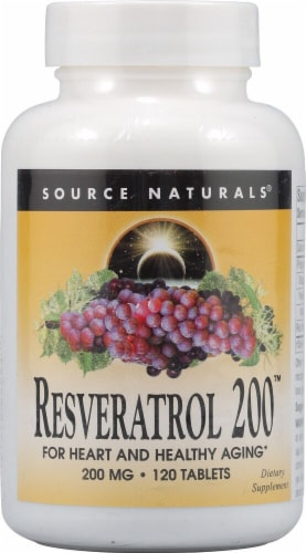 Source Naturals  Resveratrol 200™ Perspective: front