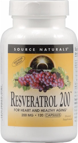 Source Naturals Resveratrol 200 Capsules Perspective: front