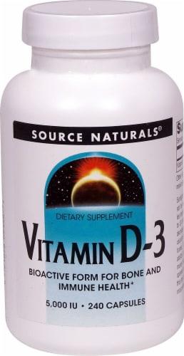 Source Naturals Vitamin D-3 Capsules 5000IU Perspective: front