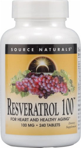 Source Naturals  Resveratrol 100™ Perspective: front