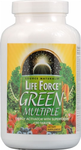 Source Naturals Life Force® Green Multiple Dietary Supplement Tablets Perspective: front